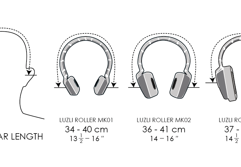 ROLLER HEADPHONE SIZE CHART
